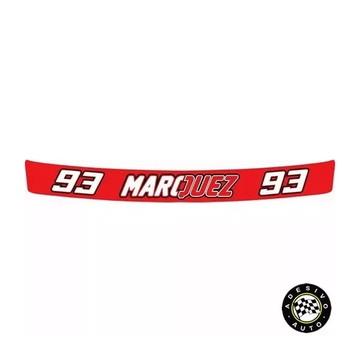 Adesivo Marc Marquez 93 Red Para Viseira De Capacete