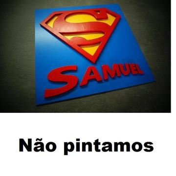 LINDO QUADRO SUPER HEROIS SUPERMAN