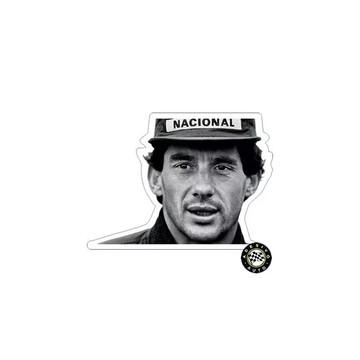 Adesivo Ayrton Senna Sempre Sticker Foto F1 Formula 1