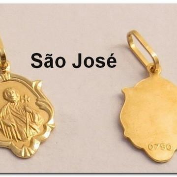 Pingente Ouro Amarelo São José