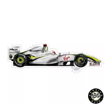 Adesivo Rubens Barrichello Brawn Gp Bgp001 Formula 1 Carros