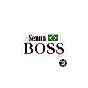 Adesivo Ayrton Senna Boss F1 Formula 1 Pronta Entrega