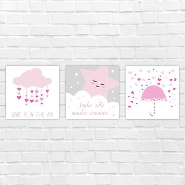 Placas Decorativas MDF - chuva de amor
