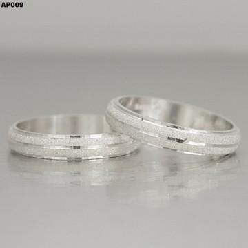 Par de Aliança em Prata - Compromisso - Namoro