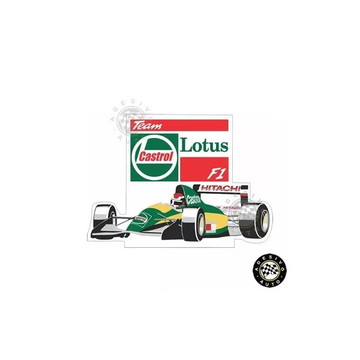 Adesivo Castrol Team Lotus Formula 1 F1 A Pronta Entrega
