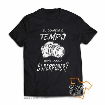 Camiseta Fotografia - Eu Congelo o Tempo