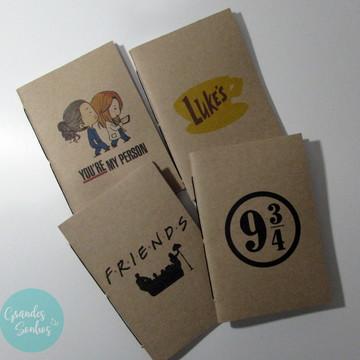 Caderninho Personalizado - Série/Filmes