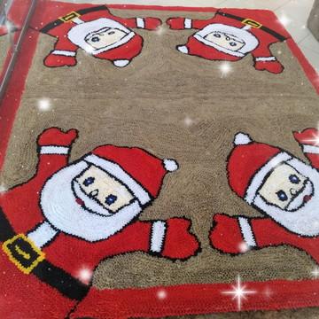 Tapete para sala decoração de natal papai Noel frufru