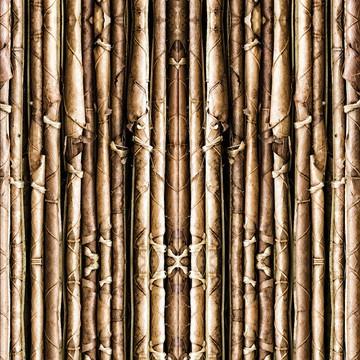 Papel Parede Varetas de Bambu Sob Tons Escuro