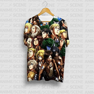 Camiseta Team - Shingeki no Kyojin (Attack On Titan)