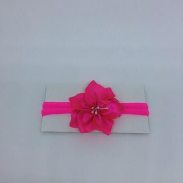 Flor hibiscus na meia de seda