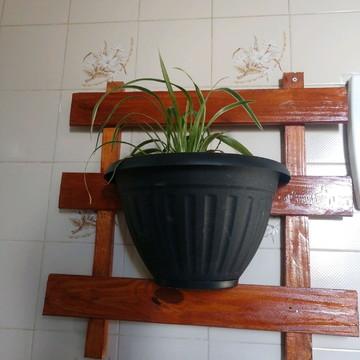 Porta plantas de madeira