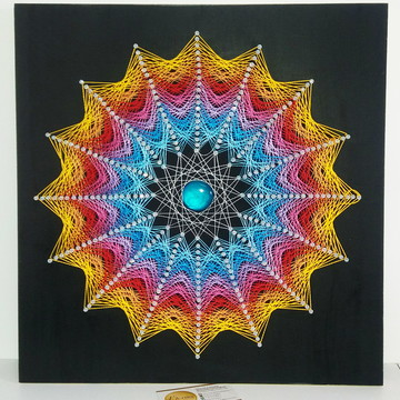 Mandala 44x44 Rainbow String Art