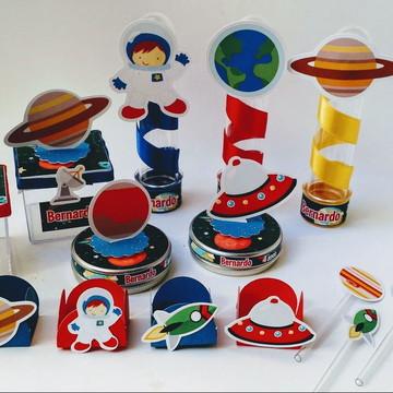 Kit Festa Espaço Astronauta com 100 peças