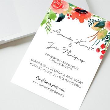 Convite Digital Casamento Rústico