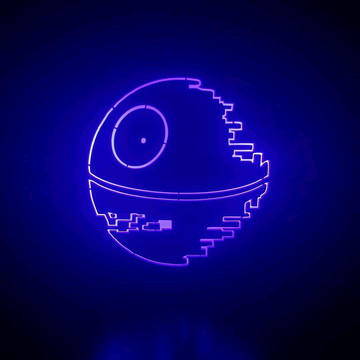 Luminária Abajur Lanterna Estrela da Morte StarWars