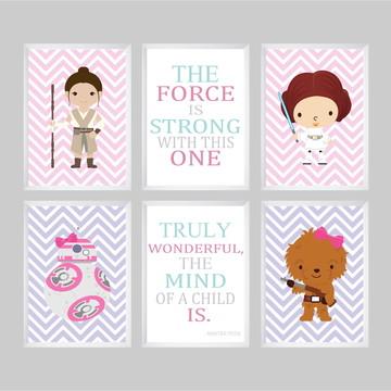 Quadros Star Wars para quarto de bebê