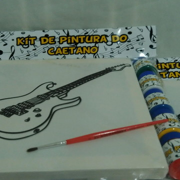 Kit Tela de Pintura Rock com Lapela