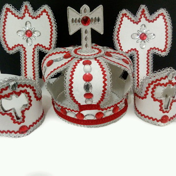Coroa de Xango Paramenta Xango