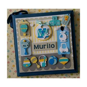 Diário Livro bebê brinquedos menino colorido scrapbook