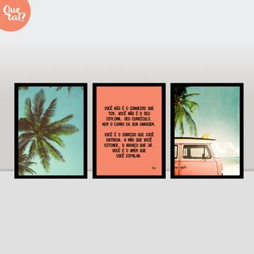 Kit 3 quadros - Praia