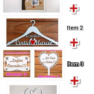 Kit Casamento Produtos Mdf Personalizado