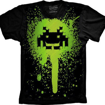 Camiseta Space Invaders Jogo