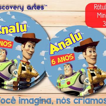 Rótulo Adesivo Mini Baleiro Toy Story