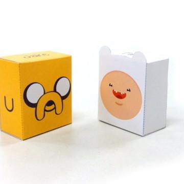 MINI FINN E JAKE (pac com 2 paper toys)