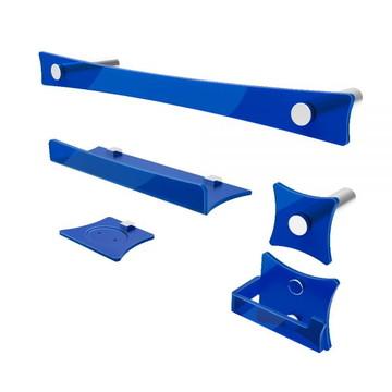 Kit de Acessórios para Banheiro Dreams em acrílico Azul