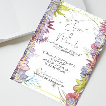 Convite Digital Casamento Suculentas