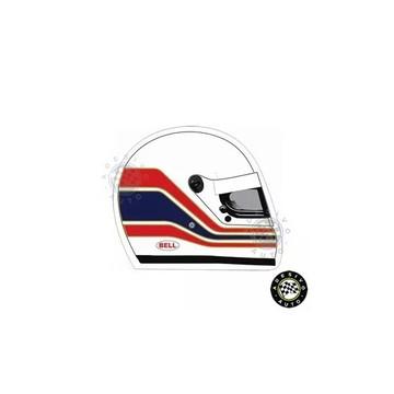 Adesivo Martin Brundle Capacete F1 Formula 1