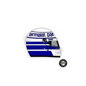 Adesivo Riccardo Patrese Capacete F1 Formula 1