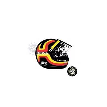 Adesivo Stefan Bellof Capacete F1 Formula 1 Sticker