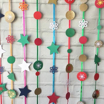 FITAS de NATAL Circulos Estrelas Scrap Christmas PARTY