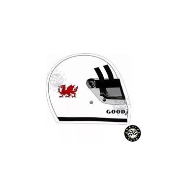 Adesivo Tom Pryce Capacete Sticker Helmet F1 Formula 1