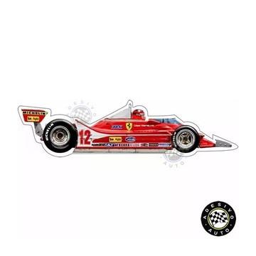 Adesivo Ferrari 312T4 Gilles Villeneuve 1979 F1 Formula 1