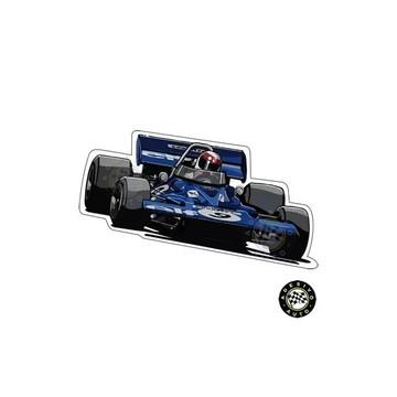 Adesivo Tyrrell 001 Jackie Stewart 1970 F1 Formula 1