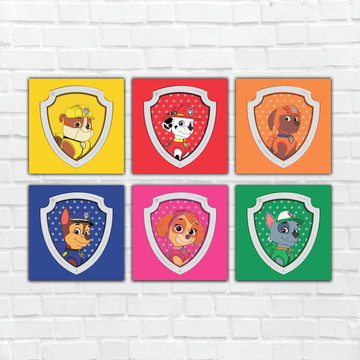 Placas Decorativas MDF - Patrulha Canina