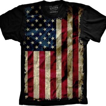 Camiseta Bandeira Estados Unidos
