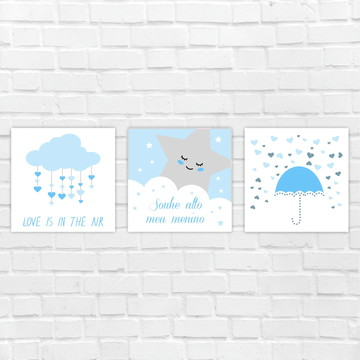 Placas Decorativas MDF - chuva de amor, estrela
