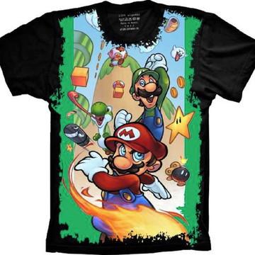 Camiseta Super Mario, Mario e Luigi