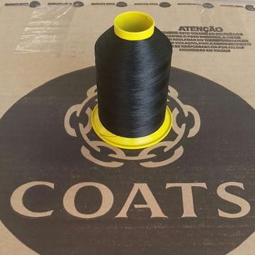 Linha 60 Coats Preto cone com 80g