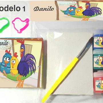 Kit massinha e pintura-galinha pintadinha