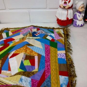 Capa Almofada patchwork