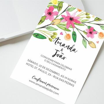 Convite Digital Casamento Florido