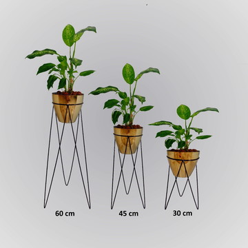 suporte de plantas kit 3 unidades - tripé