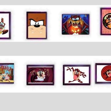Quadro Taz Mania Cartoon Anos 90 Pernalonga Retro