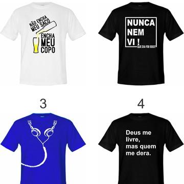 Kit 5 Camisetas Adulto Vários Modelos - Escolha Já A Sua !