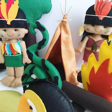 Kit Folclore e Floresta Amazônica em Feltro
